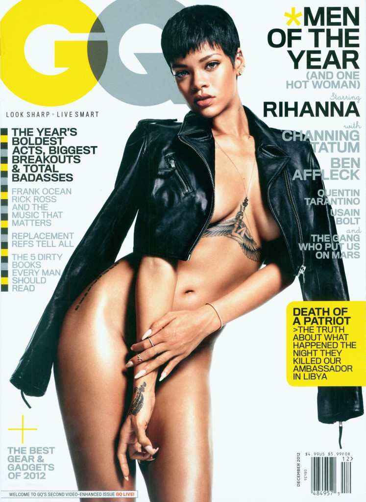Rihanna topless for GQ Magazine